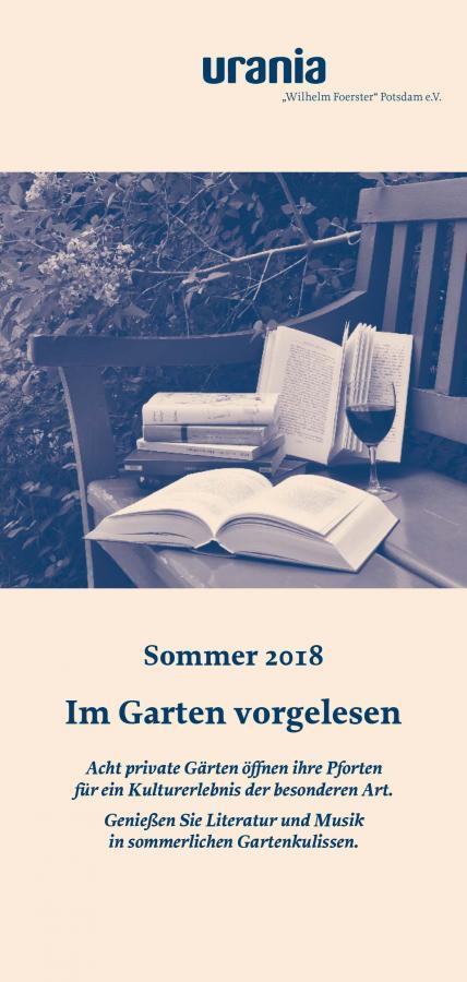 Im Garten vorgelesen 2018