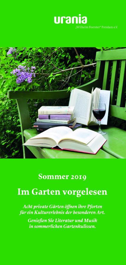 Im Garten vorgelesen 2019