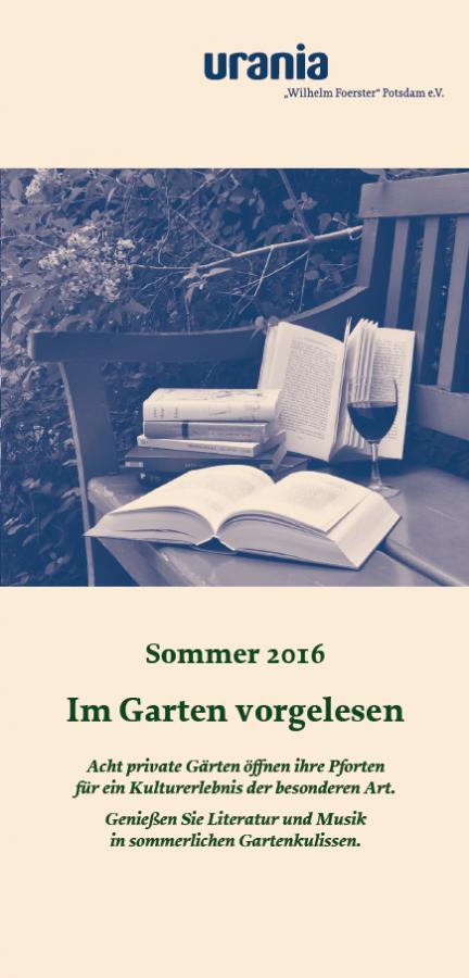 Im Garten vorgelesen_Programm_Vorderseite
