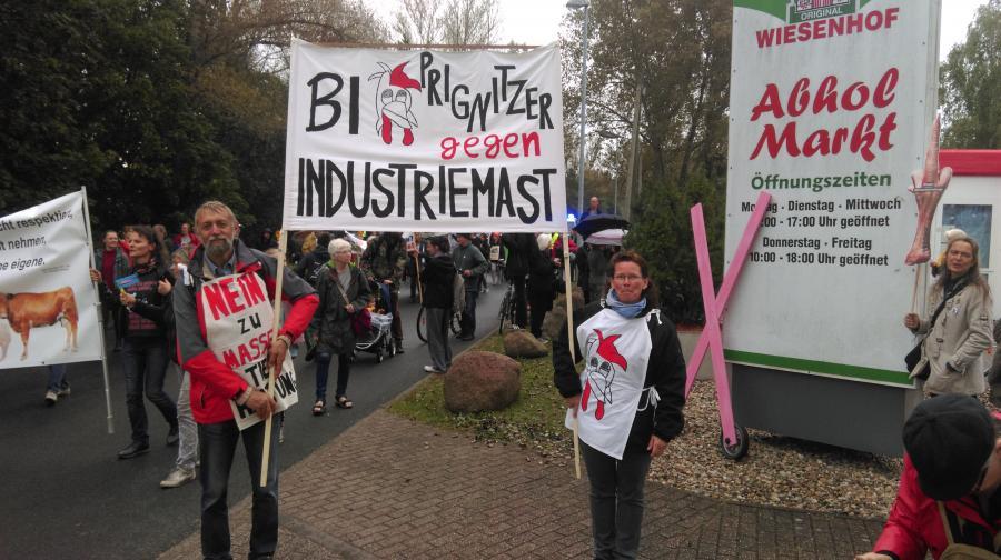 Demo in Königs Wusterhausen gegen Wiesenhof