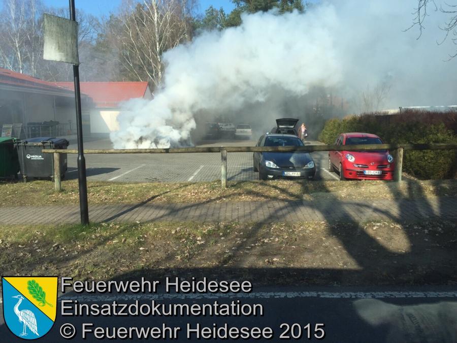 Einsatz 22/2015 PKW-Brand Prieros 12.02.2015