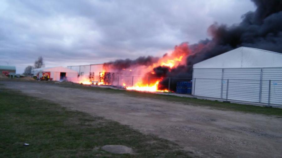 Gebäudebrand in Prenzlau