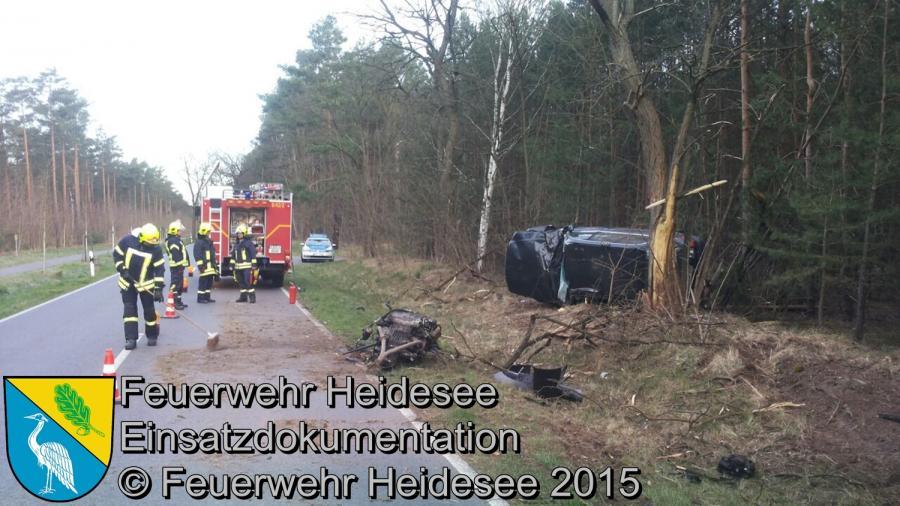 Einsatz 83/2015 Verkehrsunfall B246 OV Prieros - Gräbendorf 14.04.2015