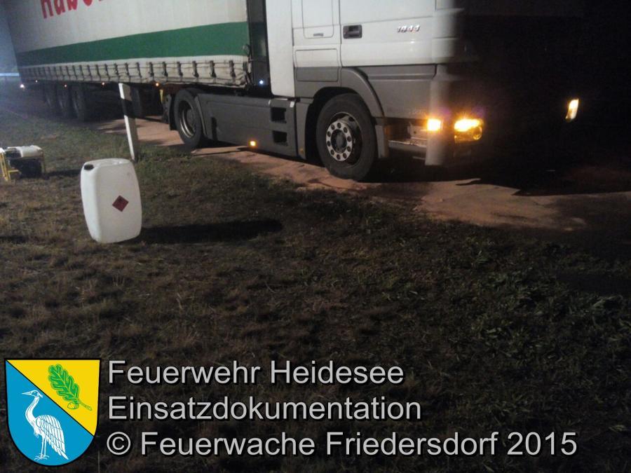 Einsatz 95/2015 Ölspur nach Getriebeschaden BAB 12 01.06.2015