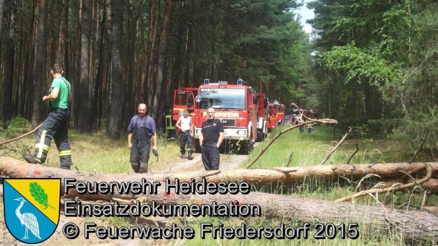 Einsatz 100/2015 Rauchentwicklung Streganz 07.06.2015