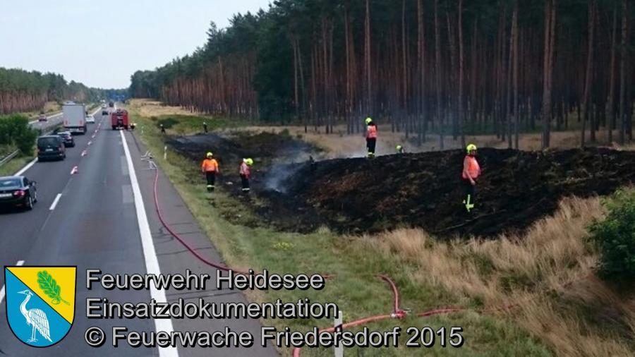 Einsatz 130/2015 2000m² Ödlandbrand BAB 12 07.08.2015