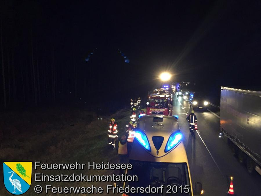 Einsatz 154/2015 PKW überschlagen BAB 12 km 9,0 26.09.2015