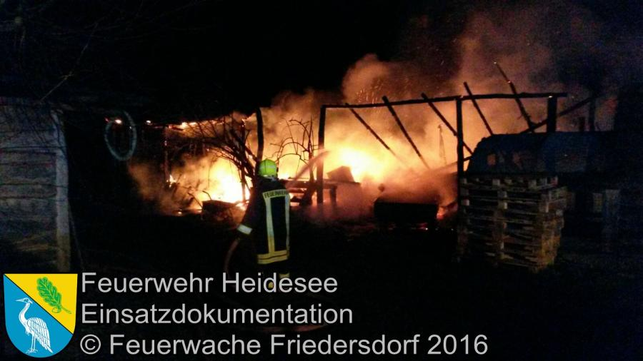 Einsatz 01/2016 | Brennt Bauwagen | Streganz Dorfaue 02.01.16
