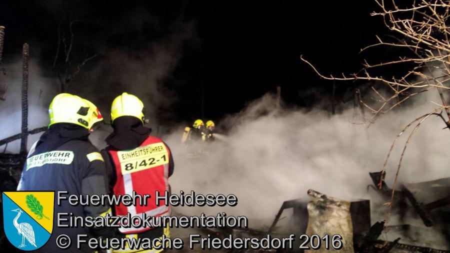 Einsatz 01/2016 | Brennt Bauwagen | Streganz Dorfaue