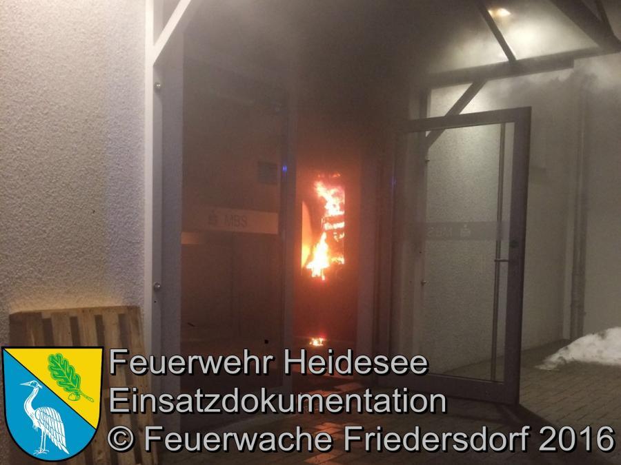 Einsatz 5/2016 | Feuer Sparkasse | Friedersdorf Lindenstraße 24.01.2016