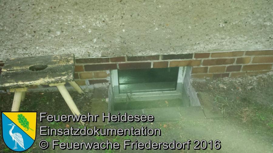 Einsatz 6/2016 | Keller unter Wasser | Bindow Amselstieg 25.01.2016
