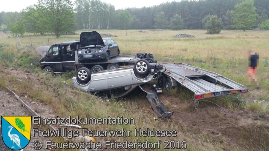 Einsatz 56/2016 | Transporter überschlagen | BAB 12 AS Friedersdorf - AS Storkow 26.05.2016