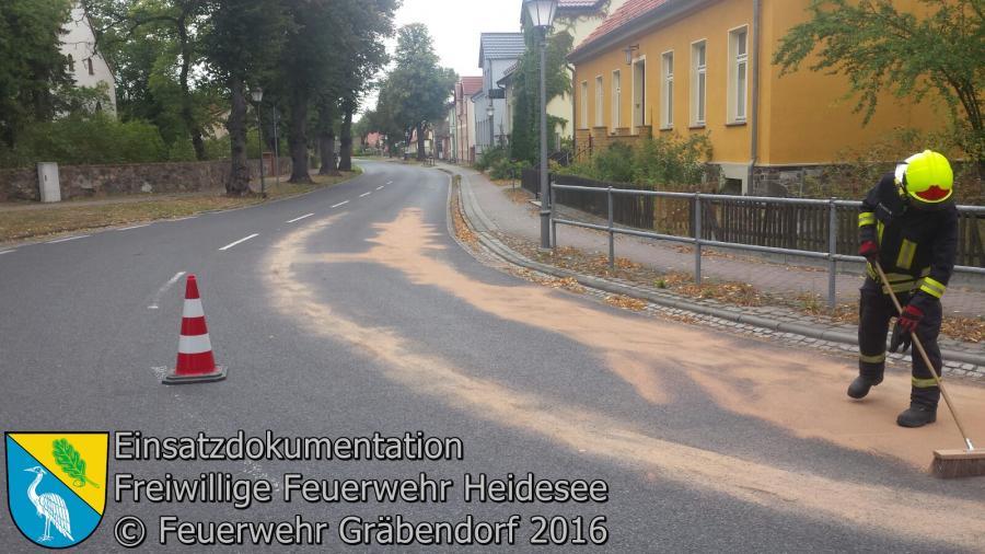 Einsatz 101/2016 | VU LKW - PKW | B246 Gräbendorf 30.09.2016