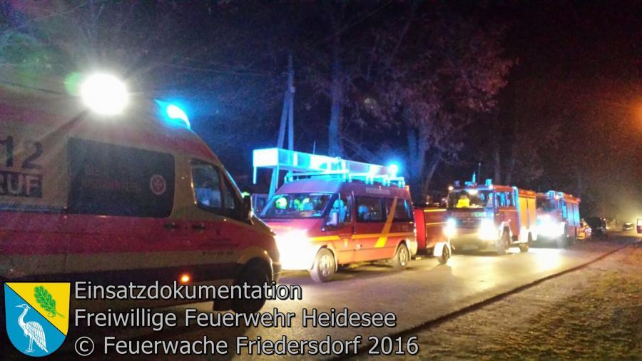 Einsatz 121/2016 | Türnotöffnung | Wolzig Blossiner Weg | 19.12.2016