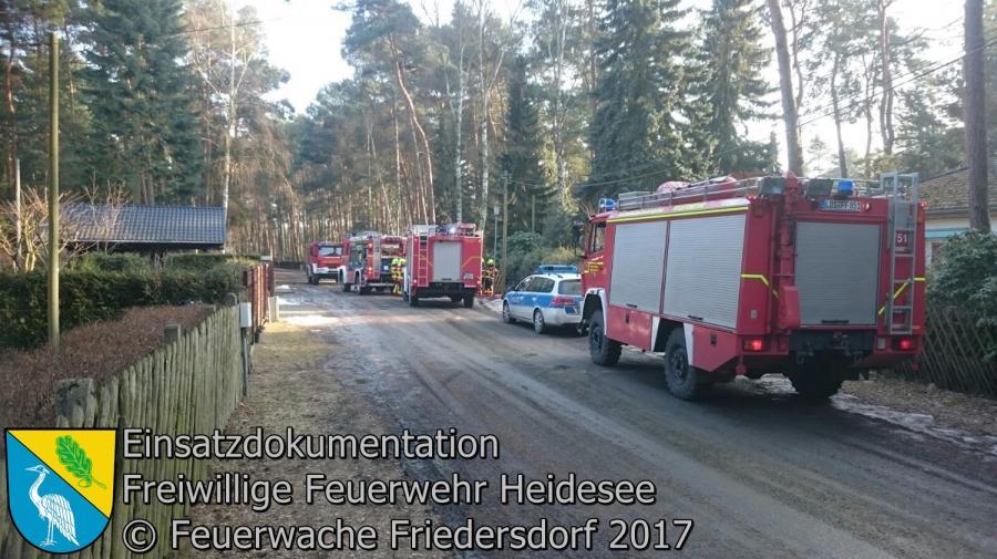 Einsatz 8/2017 | Garagenbrand | Dolgenbrodt verlängerte Mariannenstraße 16.02.2017