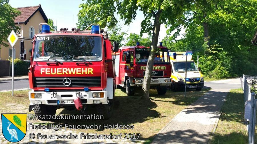 Einsatz 38/2017 | Türnotöffnung | Blossin Blossiner Hauptstraße | 18.05.2017