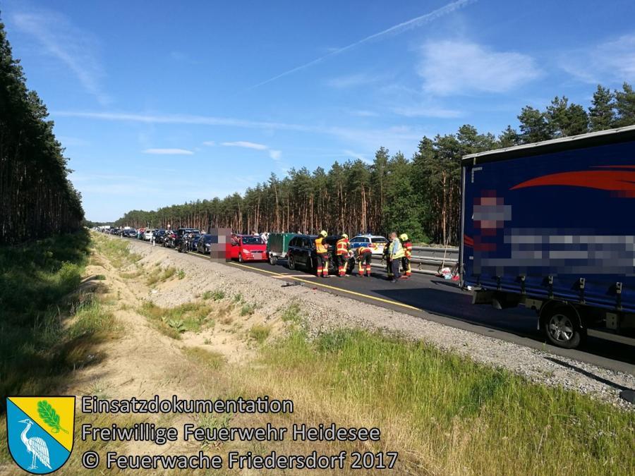 Einsatz 57/2017 | VU PKW gegen Transporter | BAB 12 AS Storkow - AS Friedersdorf | 11.06.2017