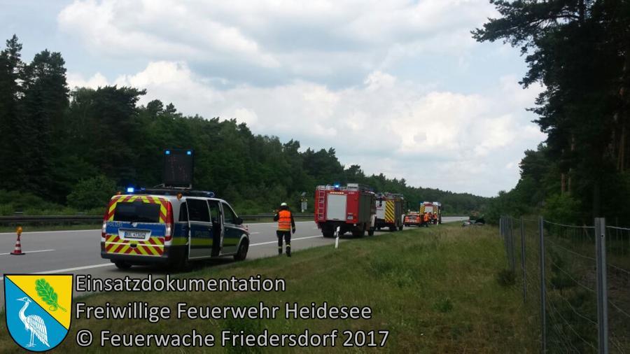 Einsatz 63/2017 | PKW überschlagen | BAB 10 AD Spreeau - AS Freienbrink | 20.06.2017