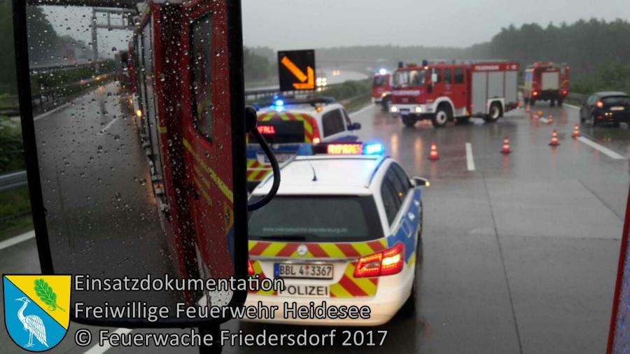 Einsatz 84/2017 | VU 2x PKW | BAB 10 AD Spreeau - AS Freienbrink | 29.06.2017