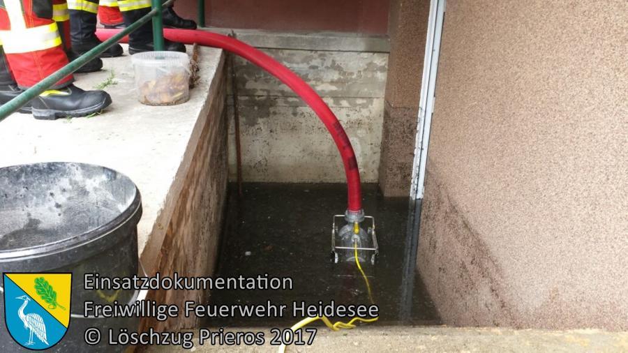 Einsatz 87/2017 | Keller unter Wasser | Bestensee Hauptstraße | 30.06.2017
