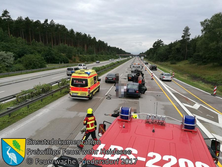 Einsatz 91/2017 | VU 3x PKW | BAB 10 AD Spreeau - AS Niederlehme | 01.07.2017