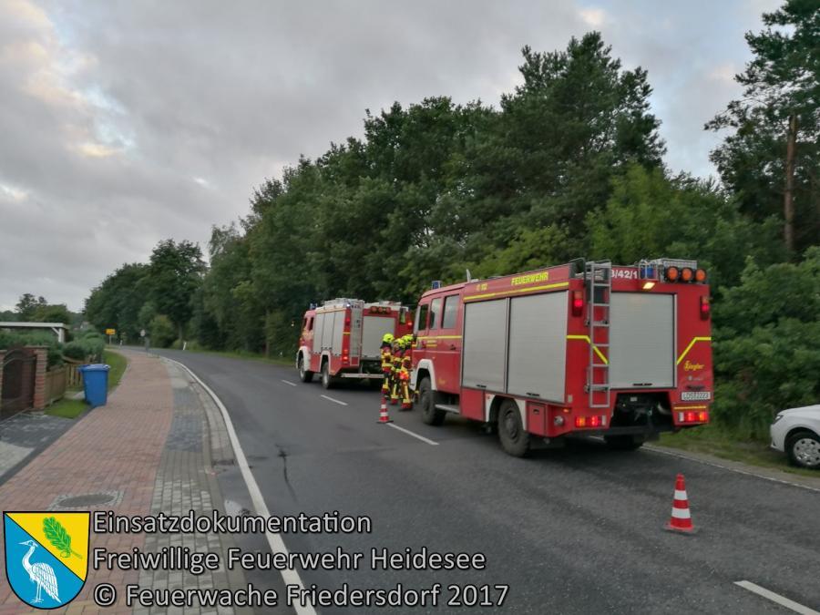 Einsatz 96/2017 | Kabelbrand | Friedersdorf Berliner Straße | 13.07.2017