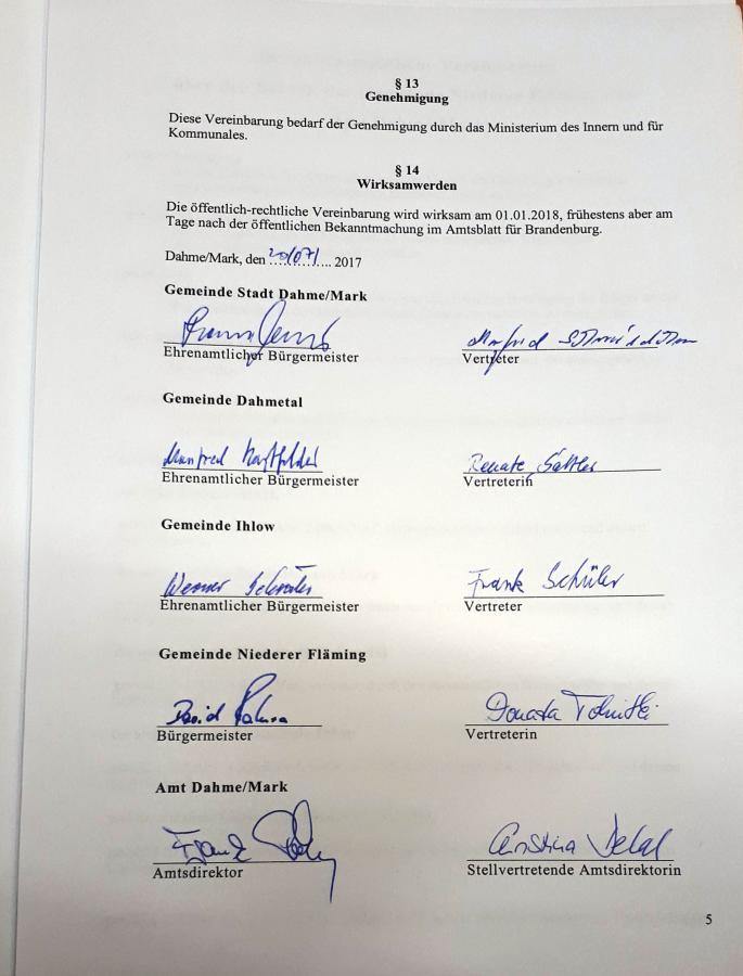 öffentlich-rechtliche Vereinbarung 20.07.2017