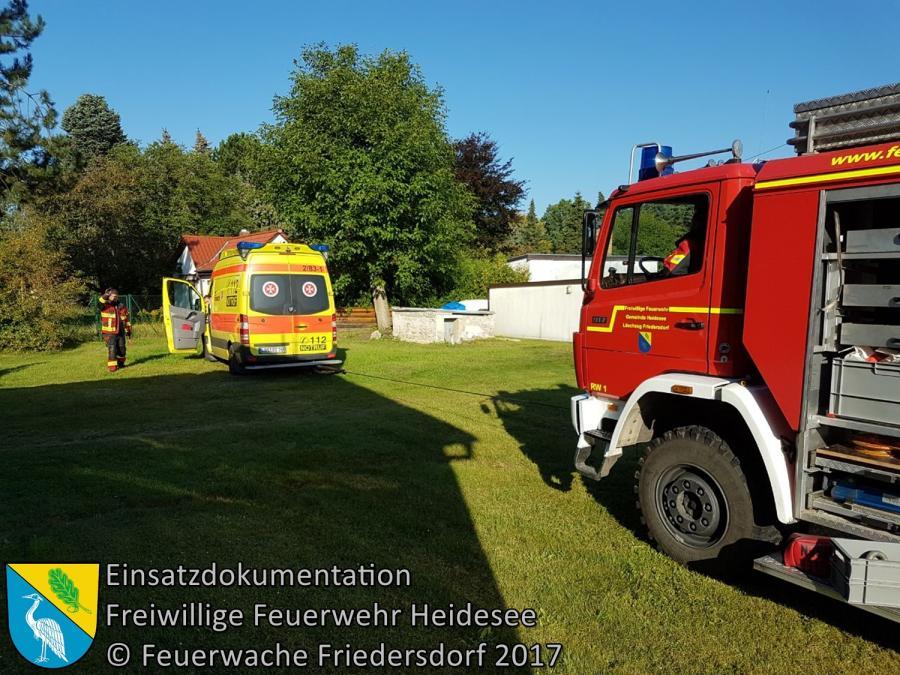 Einsatz 115/2017 | RTW festgefahren & Tragehilfe | Wolzig Blossiner Weg | 30.08.2017