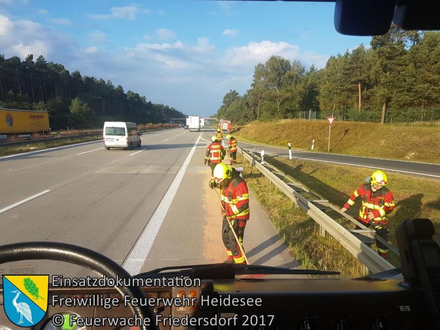 Einsatz 122/2017 | Ölspur nach Motorschaden | BAB 10 AD Spreeau - AS Niederlehme | 22.09.2017
