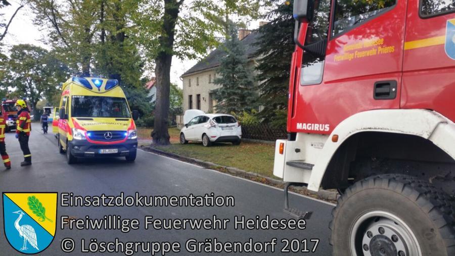 Einsatz 280/2017 | VU PKW - LKW | Gräbendorf Karl-Woitschach-Straße | 06.10.2017