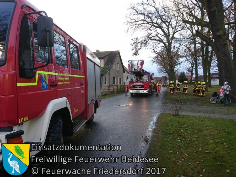 Einsatz 325/2017 | Ast droht zu fallen | Friedersdorf Wilhelmstraße | 19.11.2017