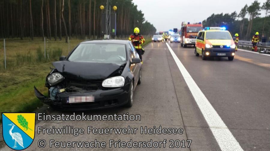 Einsatz 334/2017 | VU 3x PKW | BAB 12 AS Friedersdorf - AS Storkow | 23.12.2017