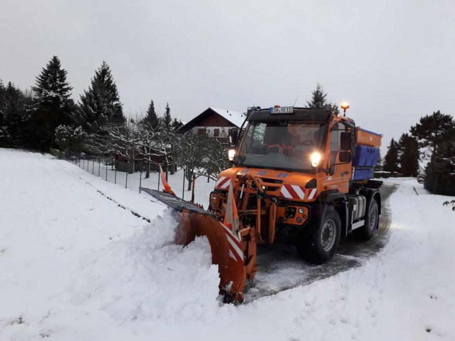 Im Winterdiensteinsatz
