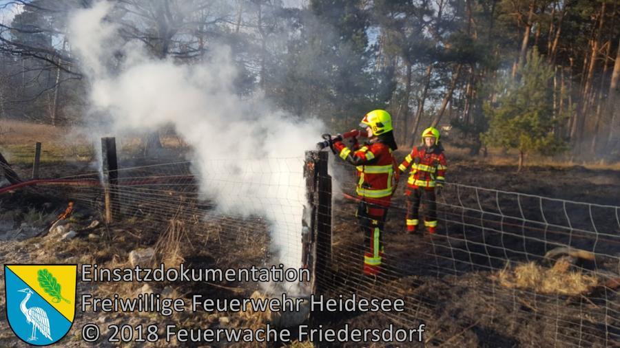 Einsatz 14/2018 | 300m² Ödlandbrand | Friedersdorf Wilhelmstraße | 25.02.2018