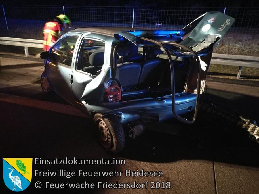 Einsatz 17/2018 | VU Transporter - PKW | BAB 12 AS Friedersdorf - AS Storkow | 08.03.2018