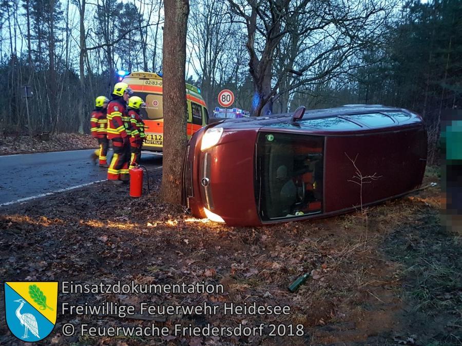 Einsatz 18/2018 | PKW in Graben | L40 OV Bindow - Senzig | 09.03.2018