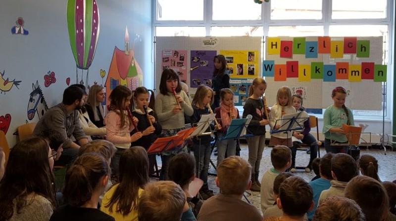 Auftritt der Flöten-AG
