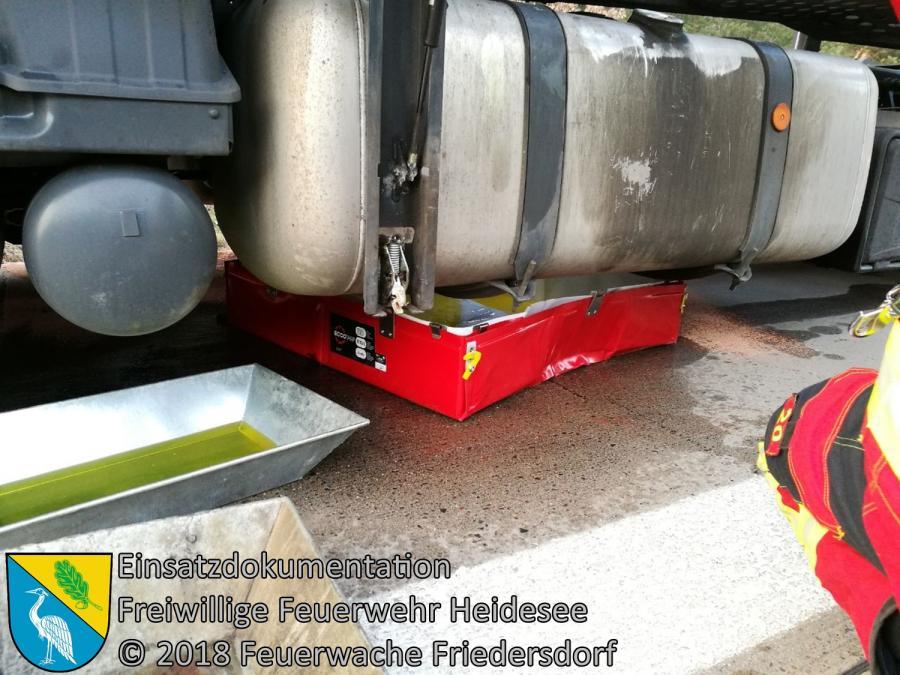 Einsatz 22/2018 | Dieselaustritt aus LKW | BAB 10 AD Spreeau - AS Niederlehme | 26.03.2018