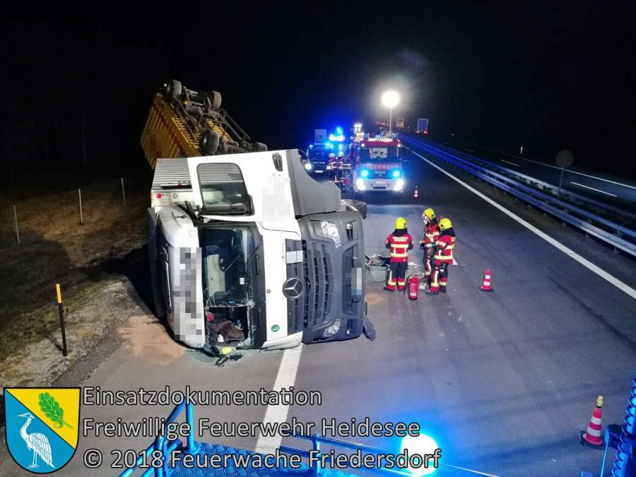 Einsatz 26/2018 | VU LKW - 3x PKW | BAB 12 AS Friedersdorf - AS Storkow | 04.04.2018