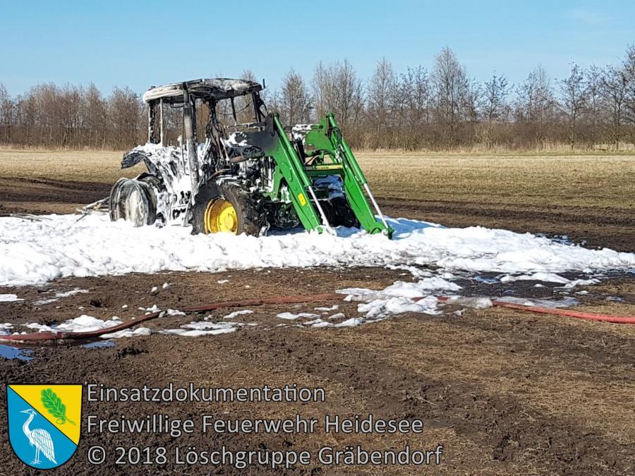 Einsatz 30/2018 | Traktorbrand | Pätz Fernstraße | 07.04.2018
