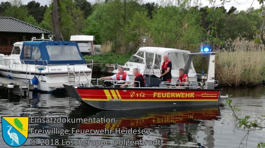 Einsatz 36/2018 | Schmierfilm auf Wasser | Prieros Mühlendamm | 28.04.2018