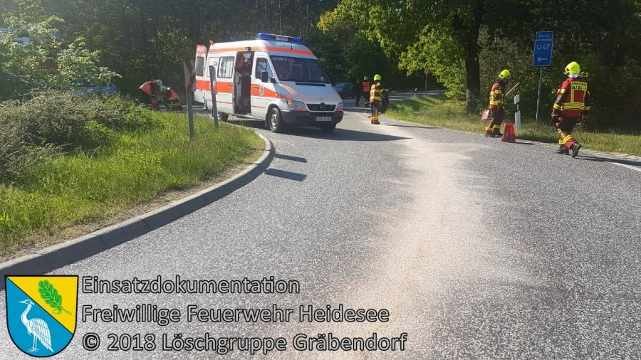Einsatz 40/2018 | Ölspur | B 246 OV Bestensee - Gräbendorf | 06.05.2018
