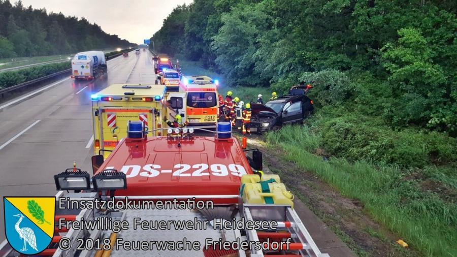 Einsatz 42/2018 | VU PKW überschlagen | BAB 10 AD Spreeau - AS Niederlehme | 10.05.2018