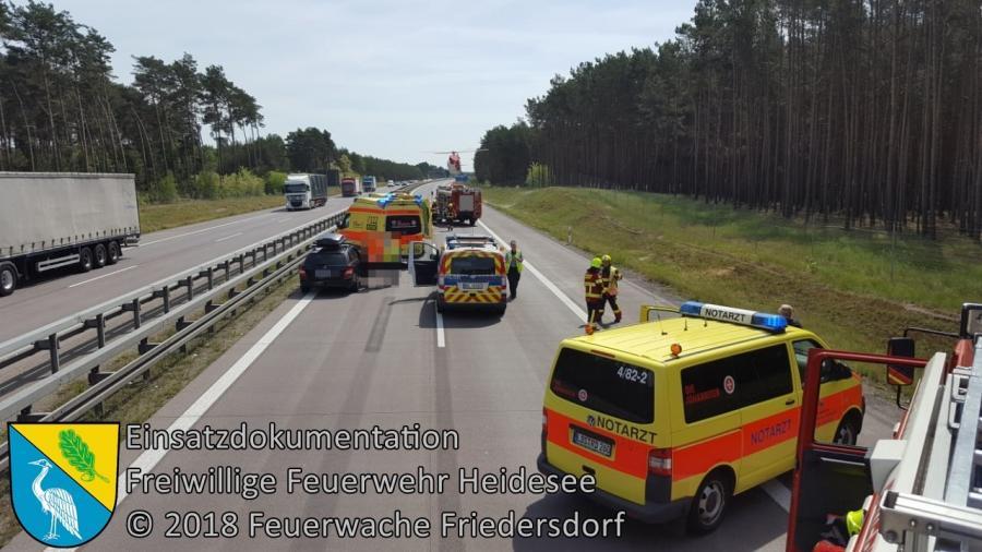 Einsatz 46/2018 | VU 3x PKW | BAB 12 AS Friedersdorf - AS Storkow | 19.05.2018