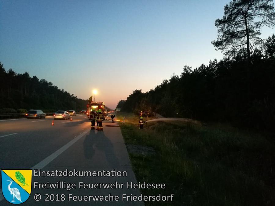 Einsatz 47/2018 | 200m² Seitenstreifenbrand | BAB 10 AD Spreeau - AS Niederlehme | 21.05.2018