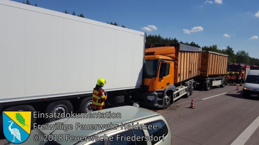 Einsatz 49/2018 | VU LKW - LKW | BAB 12 AS Storkow - AS Friedersdorf | 22.05.2018