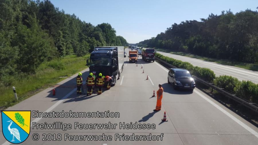Einsatz 48/2018 | VU LKW - LKW | BAB 10 AD Spreeau - AS Niederlehme | 22.05.2018