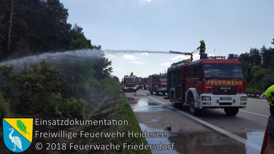 Einsatz 50/2018 | 1500m² Seitenstreifenbrand | BAB 10 AD Spreeau - AS Freienbrink | 22.05.2018
