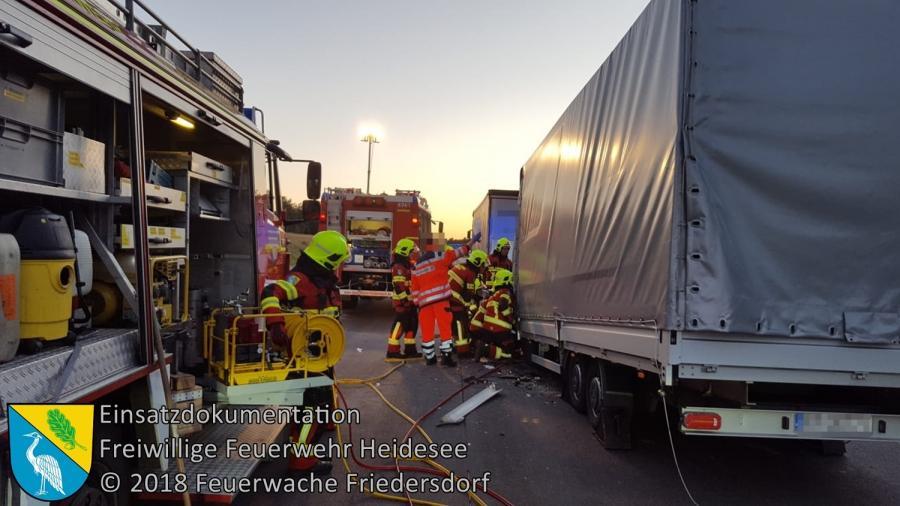 Einsatz 78/2018 | Transporter gegen LKW | BAB 12 AS Friedersdorf - AD Spreeau | 02.07.2018