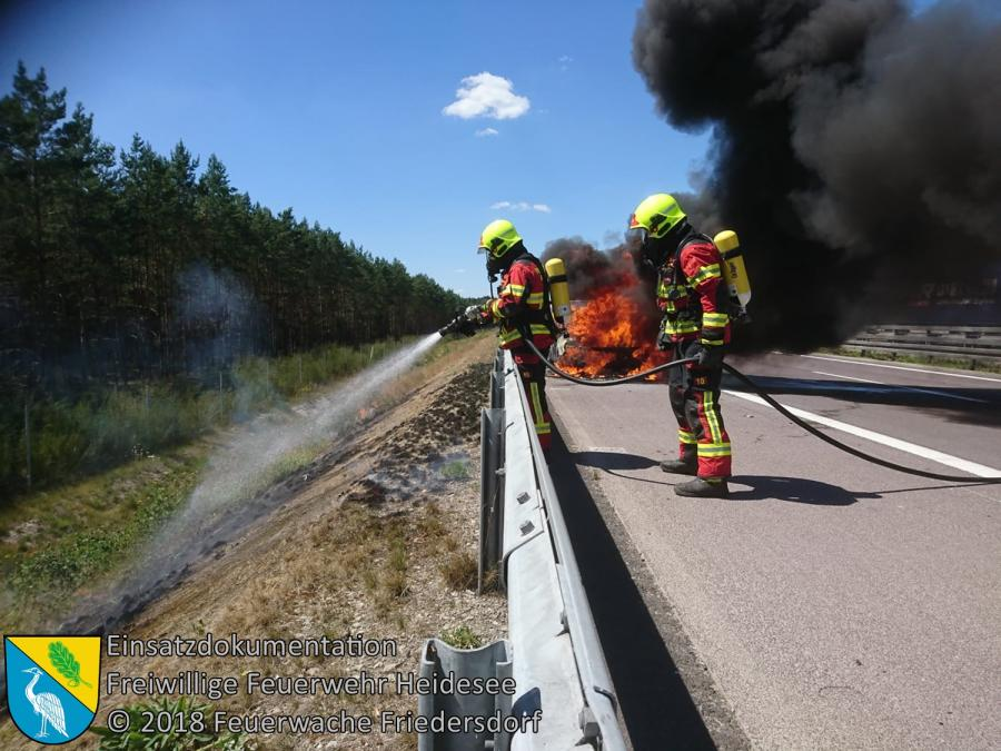 Einsatz 80/2018 | PKW in Vollbrand | BAB 12 AS Friedersdorf - AS Storkow | 03.07.2018